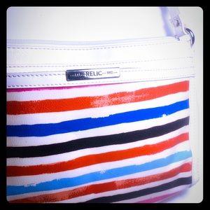 Relic Crossbody Strap Handbag Red, White, Blue